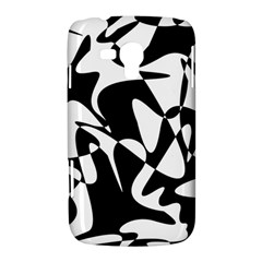 Black and white elegant pattern Samsung Galaxy Duos I8262 Hardshell Case