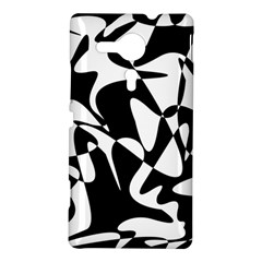 Black and white elegant pattern Sony Xperia SP