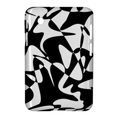 Black and white elegant pattern Samsung Galaxy Tab 2 (7 ) P3100 Hardshell Case