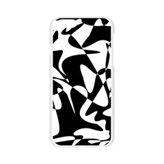 Black and white elegant pattern Apple Seamless iPhone 6/6S Case (Transparent)