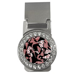 Red, black and white abstraction Money Clips (CZ)