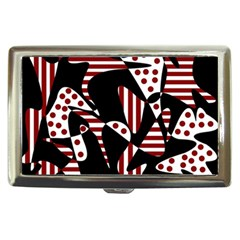 Red, black and white abstraction Cigarette Money Cases