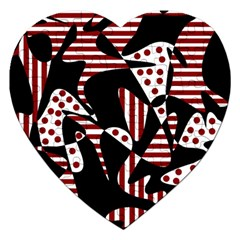 Red, black and white abstraction Jigsaw Puzzle (Heart)