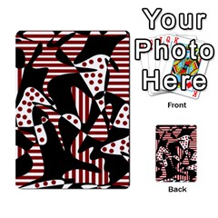 Red, black and white abstraction Multi-purpose Cards (Rectangle)