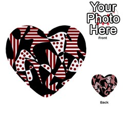 Red, black and white abstraction Multi-purpose Cards (Heart)