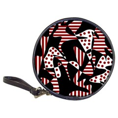 Red, black and white abstraction Classic 20-CD Wallets