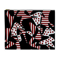 Red, black and white abstraction Cosmetic Bag (XL)