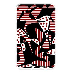Red, black and white abstraction Memory Card Reader