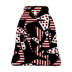 Red, black and white abstraction Ornament (Bell)