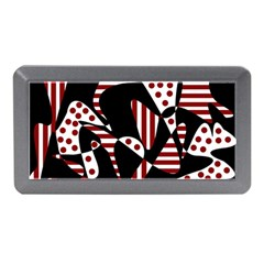 Red, black and white abstraction Memory Card Reader (Mini)