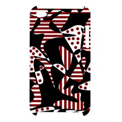 Red, black and white abstraction Apple iPod Touch 4