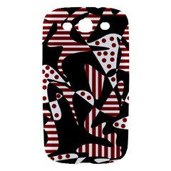 Red, black and white abstraction Samsung Galaxy S III Hardshell Case