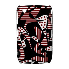 Red, black and white abstraction Curve 8520 9300