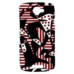 Red, black and white abstraction HTC One S Hardshell Case