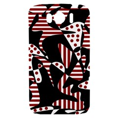 Red, black and white abstraction HTC Sensation XL Hardshell Case