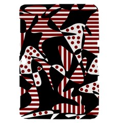 Red, black and white abstraction Samsung Galaxy Tab 8.9  P7300 Hardshell Case
