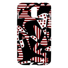 Red, black and white abstraction Samsung Galaxy S II Skyrocket Hardshell Case