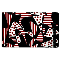 Red, black and white abstraction Apple iPad 3/4 Flip Case