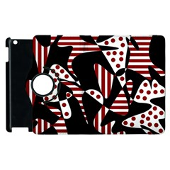 Red, black and white abstraction Apple iPad 3/4 Flip 360 Case