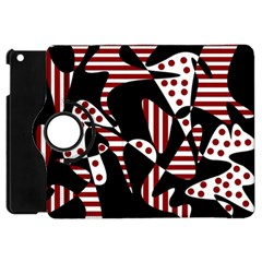 Red, black and white abstraction Apple iPad Mini Flip 360 Case