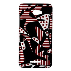 Red, black and white abstraction HTC Butterfly X920E Hardshell Case