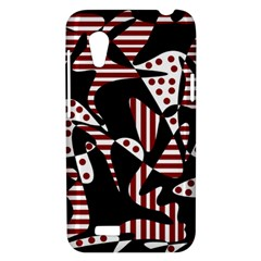 Red, black and white abstraction HTC Desire VT (T328T) Hardshell Case