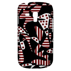 Red, black and white abstraction Samsung Galaxy S3 MINI I8190 Hardshell Case