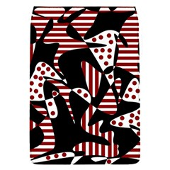Red, black and white abstraction Flap Covers (S)