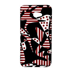 Red, black and white abstraction HTC Butterfly S/HTC 9060 Hardshell Case