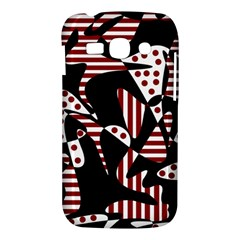 Red, black and white abstraction Samsung Galaxy Ace 3 S7272 Hardshell Case