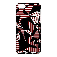 Red, black and white abstraction Apple iPhone 5C Hardshell Case