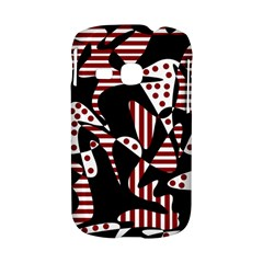 Red, black and white abstraction Samsung Galaxy S6310 Hardshell Case