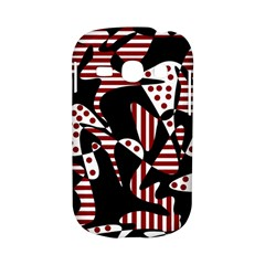 Red, black and white abstraction Samsung Galaxy S6810 Hardshell Case