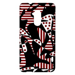 Red, black and white abstraction HTC One Max (T6) Hardshell Case