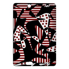 Red, black and white abstraction Amazon Kindle Fire HD (2013) Hardshell Case
