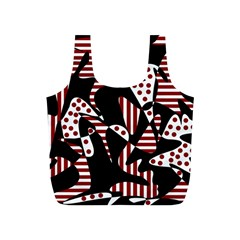 Red, black and white abstraction Full Print Recycle Bags (S)