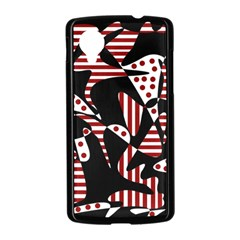 Red, black and white abstraction Nexus 5 Case (Black)