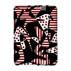 Red, black and white abstraction Amazon Kindle Fire (2012) Hardshell Case