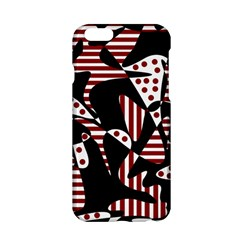 Red, black and white abstraction Apple iPhone 6/6S Hardshell Case
