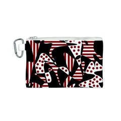 Red, black and white abstraction Canvas Cosmetic Bag (S)