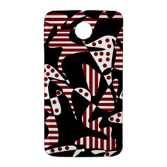 Red, black and white abstraction Nexus 6 Case (White)