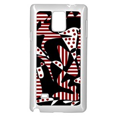 Red, black and white abstraction Samsung Galaxy Note 4 Case (White)