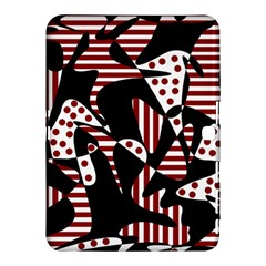 Red, black and white abstraction Samsung Galaxy Tab 4 (10.1 ) Hardshell Case