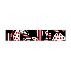 Red, black and white abstraction Flano Scarf (Mini)