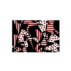 Red, black and white abstraction Satin Wrap