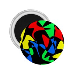 Colorful abstraction 2.25  Magnets