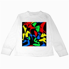 Colorful abstraction Kids Long Sleeve T-Shirts