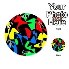 Colorful abstraction Playing Cards 54 (Round)