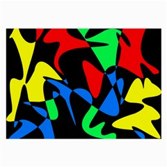 Colorful abstraction Large Glasses Cloth (2-Side)