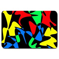 Colorful abstraction Large Doormat